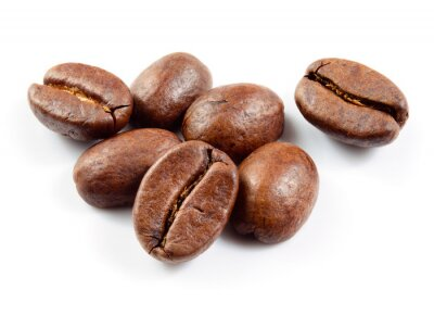 Sticker Café, grains, isolé