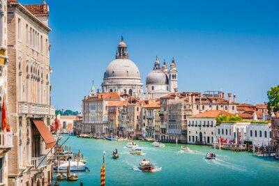 Sticker Canal Grande avec Basilique de Santa Maria della Salute, Venise, Italie