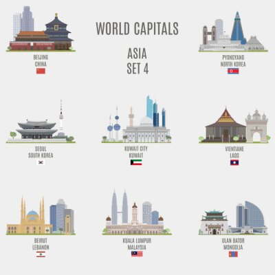 Sticker Capitales mondiales