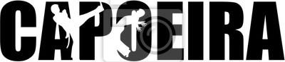 Capoeira, mot, coupure, silhouettes