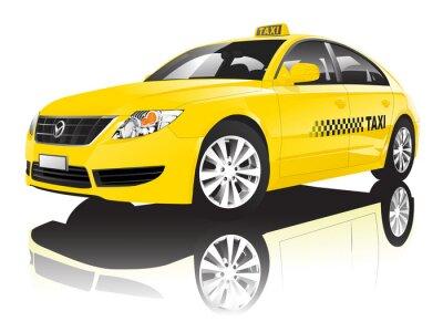 Sticker Car Taxi Cab publique Représentation artistique Brillant