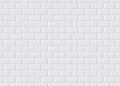 Carrelage blanc métro stickers pc portable • autocollants murales La ...