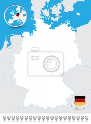 Carte aveugle de l'Allemagne