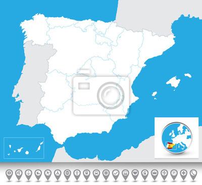 Carte aveugles d'Espagne
