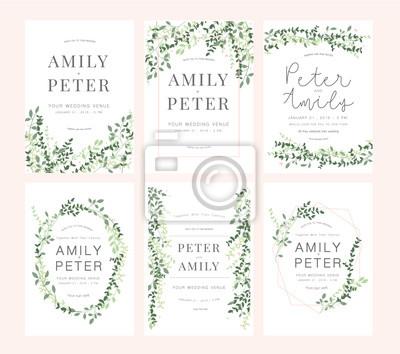 Sticker carte d'invitation de mariage