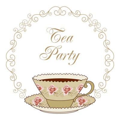 Sticker Carte de fête du thé