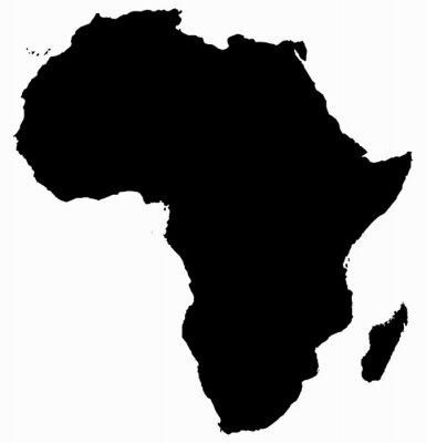 Sticker Carte de l'Afrique