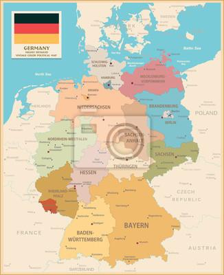 Carte de l'Allemagne.