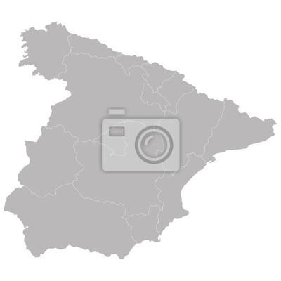 Carte de l'Espagne sur les zones