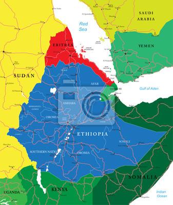 Carte de l'Ethiopie