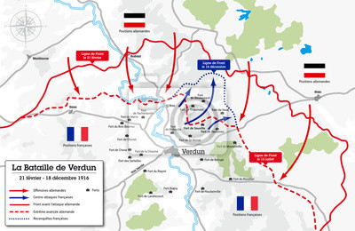 carte de la bataille de verdun Carte de la bataille de verdun   1916 stickers pc portable