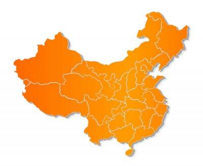 Sticker Carte de la Chine