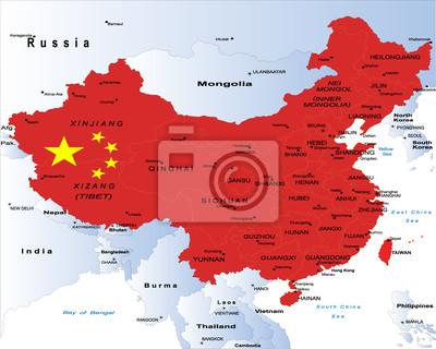 Carte de la Chine-politique