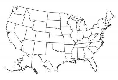 Sticker Carte de USA