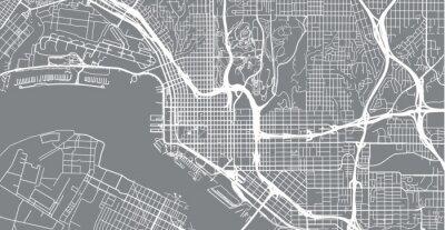 Sticker Carte de ville vecteur urbain de San Diego, Californie, États-Unis d'Amérique