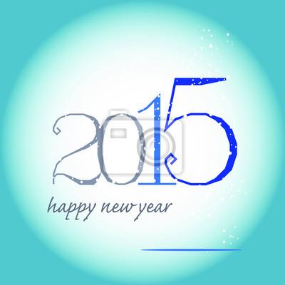 carte de voeux 2015 de bleu