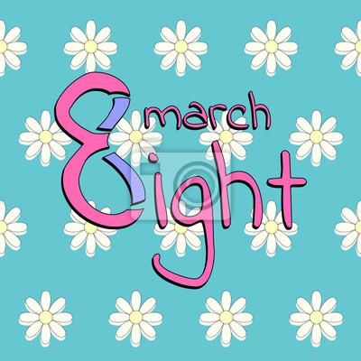 Sticker Carte de voeux de la journée des femmes du 8 mars