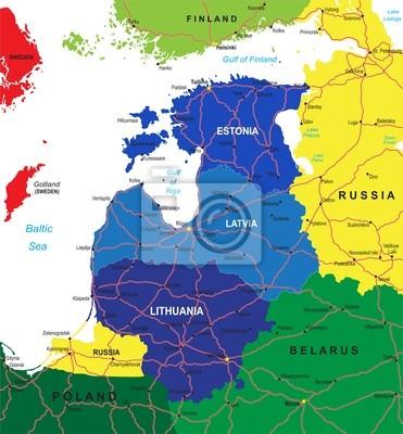 Carte des États baltes