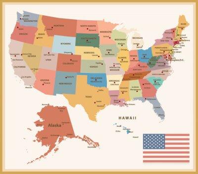 Sticker Carte des Etats-Unis