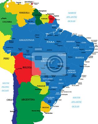 Carte du Brésil