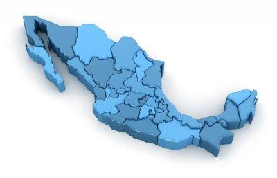 Sticker Carte du Mexique.