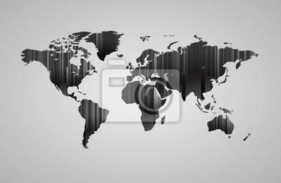 Carte du monde avec effet 3D
