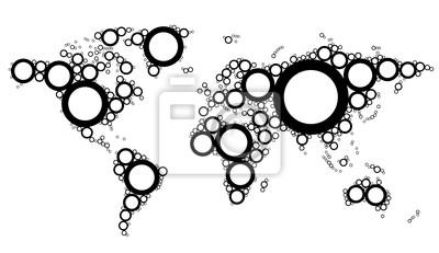 Carte du monde Concept