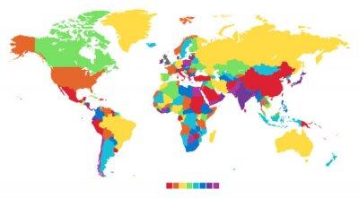 Carte du monde dans des couleurs arc-en-