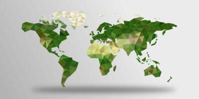 Sticker Carte du monde des polygones