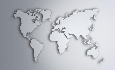 Sticker Carte du monde. Image, Coupure, sentier