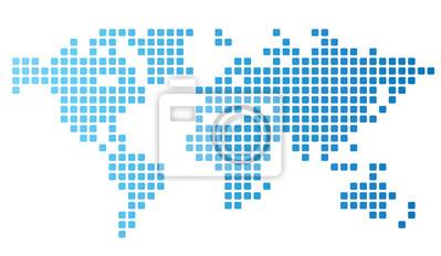 Carte du monde parsemée