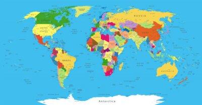 Sticker Carte du monde politique