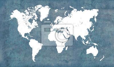 Sticker Carte du monde, vintage