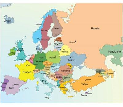 Sticker Carte européenne.