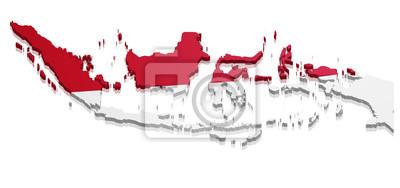 Sticker Carte Indonésie