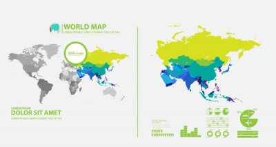 Sticker carte infographique