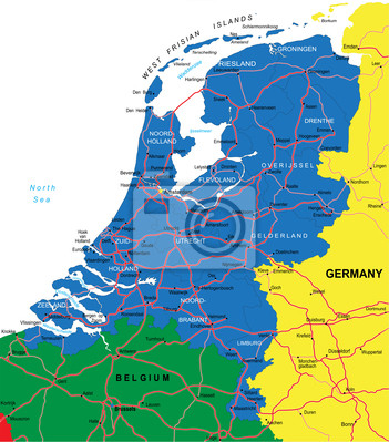 Carte Pays-Bas