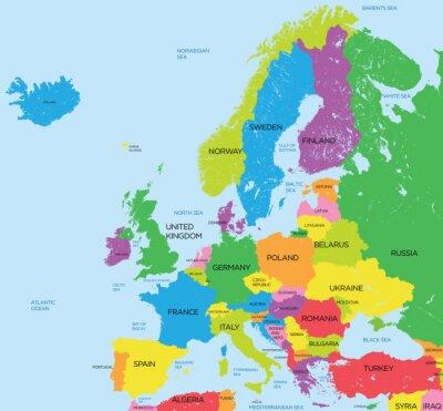 Sticker Carte politique de l'Europe détail élevé