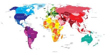 Sticker Carte politique du monde