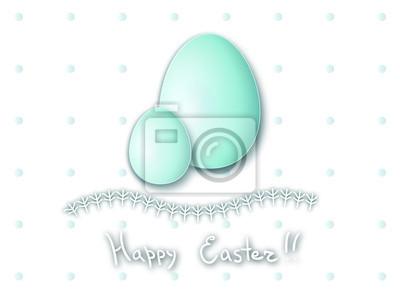 Carte postale de Pâques, oeufs de Pâques