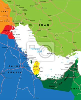 Carte région du Golfe Persique
