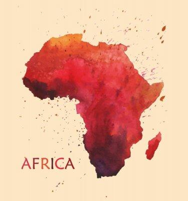 Sticker Carte stylisée de l'Afrique.