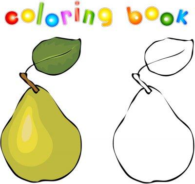 Sticker Cartoon livre de coloriage de poire