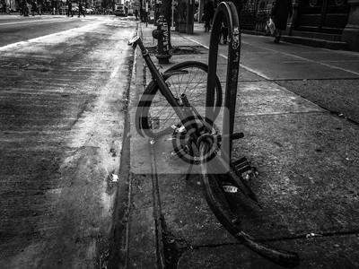 Cassé, vélo, rue, vendange, style, nouveau, York