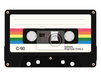 Sticker Cassette. Illustration vectorielle