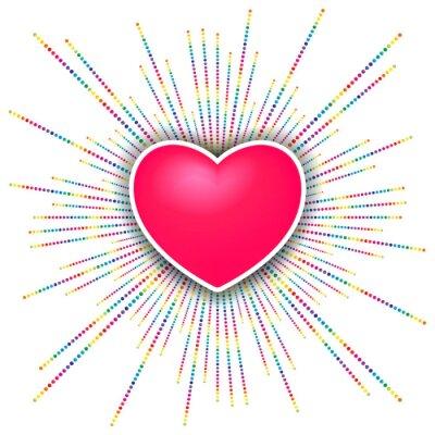 Sticker célébration de valentines heureux de jour fond