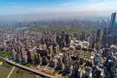 central park manhattan new york aerial view from helicopter