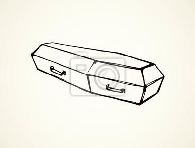 Cercueil Dessin Vectoriel Autocollants Murales Scarey Rester Sarcophage Myloview Fr