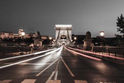 Sticker Chaîne, pont, nuit