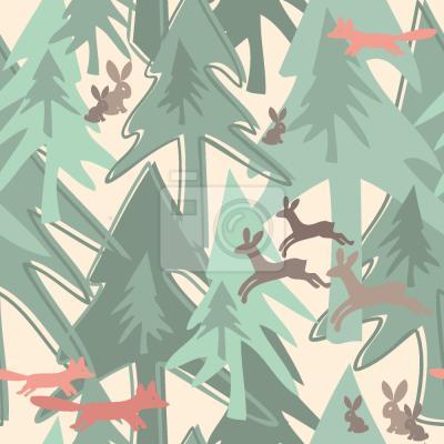 Sticker Changer de dans la forêt saison